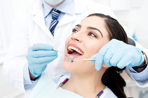 dentist check up woman smile healthy teeth woodbridge
